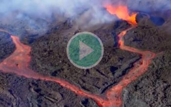 Piton de la Fournaise : Une éruption majestueuse