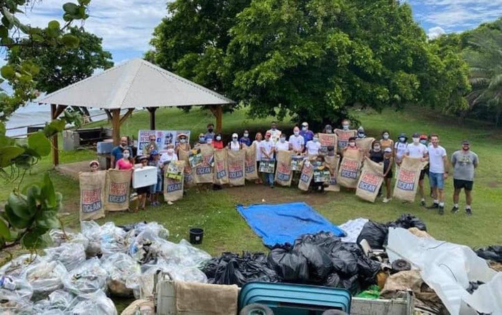 Ils libèrent le littoral de Ste-Marie d'1,7 tonne de déchets <br><br>