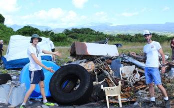5 tonnes de déchets ôtées de l'embouchure de la Rivière Sainte-Suzanne