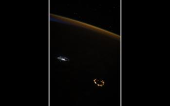 La Réunion et Maurice vues depuis l'espace